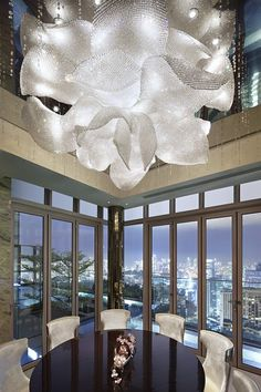 The Ritz-Carlton Residences light by lasvit Luxury Lighting, Lighting Design, Interior Lighting, Carlton Hotel, Glass Installation, Chandelier Lighting, Chandeliers, Lighting Sculpture, Interior Exterior