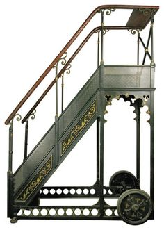 For my dream library... A. Bernard Rolling Library Ladder eclectic ladders and step stools