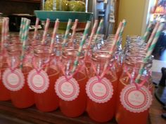 Cherry on top party drinks - pineapple juice, red jello mix, ginger ale