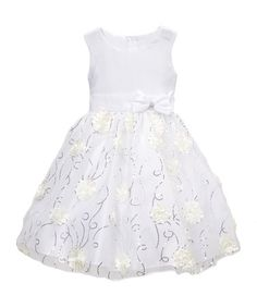 Loving this White Floral A-Line Dress - Infant, Toddler & Girls on #zulily…