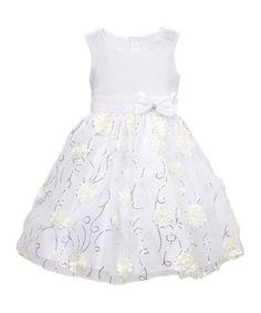 White Floral A-Line Dress - Infant, Toddler & Girls #zulily #zulilyfinds