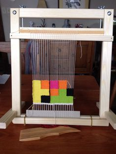 Did another loom join my ever-growing loom family? The Glimakra Freja is a tapestry frame loom, best used while being held or propped on a table. Tapestry Loom, Wall Tapestry, Weaving Techniques, Bunk Beds, Needlework, Kids Rugs, Frame, Fabric, Inspiration
