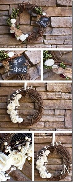 Happy October: Fall Wreath Tutorial | nHerShoes | Bloglovin