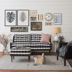 Jack Loveseat - Windowpane Plaid   The Jack Collection   Furniture