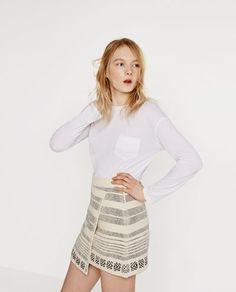 Image 2 of WRAP AROUND MINI SKIRT from Zara