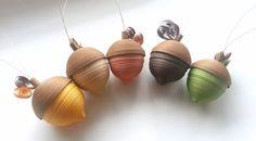 Acorn Dekor Herbst Thanksgiving Ornaments von WintergreenDesign