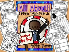 One Lesson at a Time: Martin Luther King, Jr. Mini-Book: A New Freebie! Kindergarten Social Studies, Teaching Social Studies, Elementary Counseling, Kindergarten Centers, Kindergarten Worksheets, Elementary Education, Mlk Jr Day, Nu'est Jr, History Projects