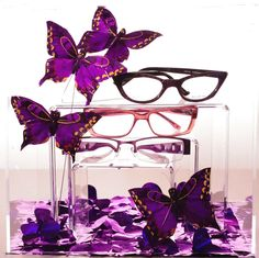 #Merchandising Tip: Here is another great simple #eyewear merchandising idea featured in Eyecare Business Magazine! Just add some butterflies to a spring/summer theme. The Dolabany Granite (top) and Plume Paris Libra (bottom) make a great impression! See our eyewear collection here!