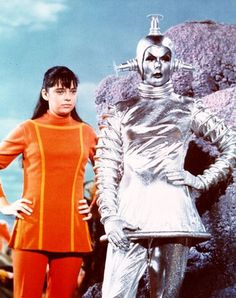 Penny Robinson and Verda the android from season 2 of Lost In Space.