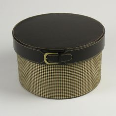 Large Buckled Hat Box