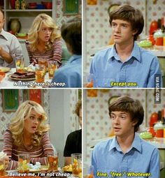 Man I miss this show, anyone agree? That 70s Show Quotes, Tv Show Quotes, Movie Quotes, Funny Quotes, Donna And Eric, Funny Burns, Eric Forman, Thats 70 Show, Movie Lines