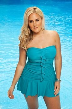 3fd777dcfb Women s Plus Size Swimwear - Always For Me Chic Solids Valencia Ruffled 1  Pc Swim Mini