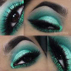 Emerald green eyeshadow @Fritzie Torres