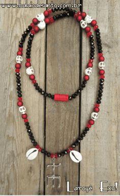 Santeria Beads, Yemaya Orisha, Waist Beads African, Orishas Yoruba, Yoruba Religion, Beaded Jewelry, Beaded Necklace, Boho Diy, African Art