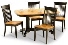 Split Rock Table and 6 Side Chairs are superbly crafted by Amish Craftsmen to provide longevity of use and aesthetic enjoyment in your dining room. This solid set features a 40