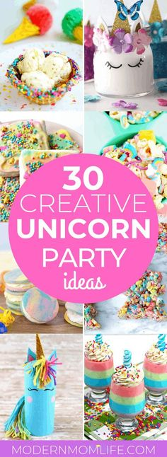 These unicorn party ideas are perfect for any celebration. Use these unicorn food and craft ideas for your next big event.<br> Diy Unicorn Bag, Diy Unicorn Party, Unicorn Party Supplies, Unicorn Crafts, Unicorn Birthday Parties, Unicorn Party Plates, First Birthday Favors, 9th Birthday, Birthday Cakes