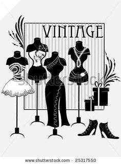 Find Vintage Fashions stock images in HD and millions of other royalty-free stock photos, illustrations and vectors in the Shutterstock collection. Mannequin Art, Dress Form Mannequin, Vintage Prints, Vintage Art, Vintage Logos, Decoupage Vintage, Retro Logos, Vintage Typography, Fashion Job