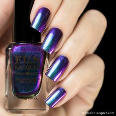 "Eternal Love is one of our best selling multi-chrome polish! It shifts incredibly between the stunning turquoise-blue, purple, red and green. Recommend to apply without the need of a base colour. Fully opaque in 2-3 coats.All F.U.N Lacquers are 5-FREE! They do not contain Dibutyl Phthalate (DBP), Toluene, Formaldehyde, Formaldehyde Resin, Camphor and it is cruelty FREE.*Kindly read the shop policy <a target=""_blank"" href=""http://www.funlacquer.com/shop-poli..."