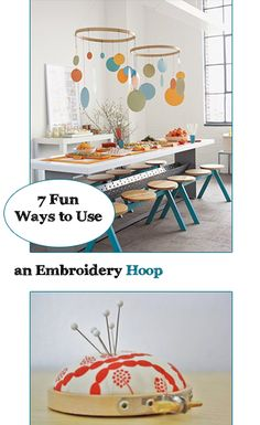 7 Fun Ways to Use an Embroidery Hoop. Creative ways to use embroidery hoops for DIY projects, crafts, home decor and other fun ways. Diy Projects To Try, Crafts To Do, Craft Projects, Crafts For Kids, Arts And Crafts, Embroidery Hoop Crafts, Home Decoracion, Interior Exterior, Cool Diy