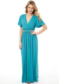Eleanor Deep-V Maxi Dress From Alloy.com. Too Long for me but Super Cute!!