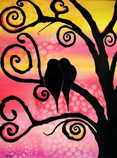 Love Birds  Painting  - Love Birds  Fine Art Print