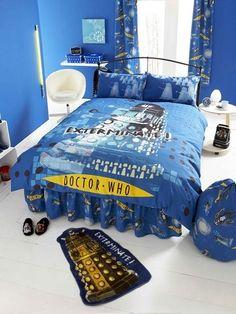 Daniel 39 S Bedroom On Pinterest Doctor Who Bedroom Tardis Blue And Geek