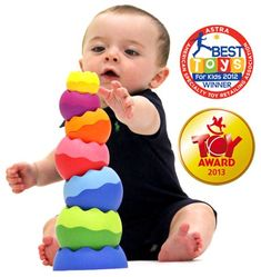 Tobbles Neo by Fat Brain Toy Co. -- These stacking toys are wobbling and adventurous and perfect for tower building and baby engineering! Send them spinning around on their weighted bases, nest them, and watch them wobble! A best toy for babies! Best Educational Toys, Educational Toys For Toddlers, Learning Toys, Toddler Toys, Kids Toys, Children's Toys, Best Baby Toys, Toys For 1 Year Old, Stacking Toys