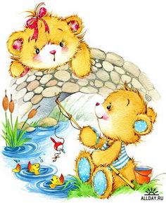 Illustration of teddy bear soft toys Tatty Teddy, Illustration Mignonne, Cute Illustration, Watercolor Illustration, Baby Teddy Bear, Cute Teddy Bears, Art D'ours, Disney Cartoon Characters, Bear Art