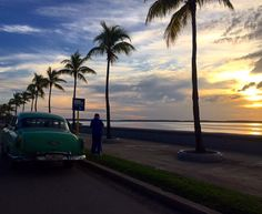 Road trip from Vinales to Trinidad. Stop for a #sunset in #cienfuegos. #malecon #roadtrip #cuba