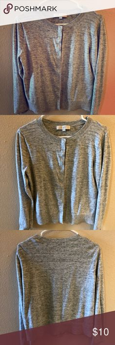 Ann Taylor Loft gray cardigan large Used condition Ann Taylor LOFT Sweaters Cardigans