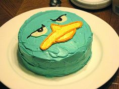 Perry the Platypus round birthday cake. phineas and ferb birthday theme