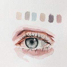 detail! quick eye study - #watercolorpainting #watercolor #watercolour #painting #sketch #drawing #portrait #sketchbook