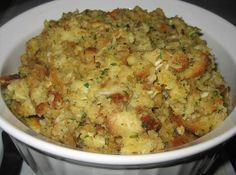 Yum! I'd Pinch That | My Mom's Perfect Thanksgiving Stuffing #recipe #justapinch