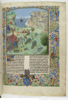 Chronicle of Jean Froissart. Book III. Bibliothèque Nationale de France, BNF FR 2645, Fol. 1r