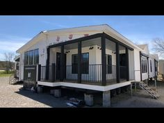 A quick walk through of the Lulamae from the American Farm House series by Buccaneer Home Builders. Home has 3 bedrooms, 2 bath, and 1832 square feet. Clayton Modular Homes, Clayton Homes, New Mobile Homes, New Homes, Tiny Homes, Farmhouse Remodel, Farmhouse Style, Farmhouse Decor, Modern Farmhouse