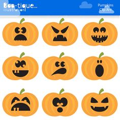 Halloween Pumpkins Clipart set for Instant Download includes 9 bright and chearful candy corn vector graphics in differendt spooky costumes.