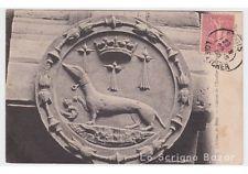 1906 cartolina Chateau de Blois - cane bassotto dachshund Dackel teckel