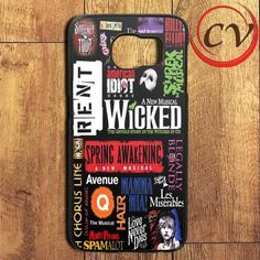 Broadway Musical Collage Samsung Galaxy S7 Edge Case