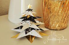 born2stamp STAMPIN' UP! Weihnachtsdeko - DSP Zauberwald - Goldfaden
