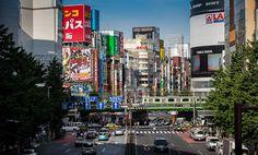 青梅街道の陸橋から歌舞伎町方向の眺め