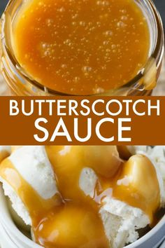 Butterscotch Sauce - Silky and sweet! This easy homemade sauce tastes amazing on ice cream, cheesecake or bread pudding. Silky and sweet! This easy homemade sauce tastes amazing on ice cream, cheesecake or bread pudding. Butterscotch Sauce Recipes, Sauce Caramel, Caramel Recipes, Dessert Sauces, Dessert Recipes, Snack Recipes, Salsa Dulce, Gourmet, Pie Recipes