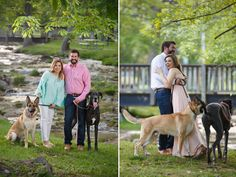 Megan & Josh Engagement Session with dogs, photographed by Cable Photography & Video | The Pink Bride® www.thepinkbride.com