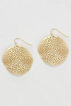Amelia Earrings in Matte Gold