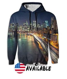 B077L4RNY9 : PINPINTA 3d Digital Long Sleeve Hoodie Pullover Blouse Sweatshirt Manhattan Nights Long Sleeve Big Pocket Sweatshirt For Womens S-2XL. Delivery Time 7-15 Business Days.. Material Fabric: Air Layer220gsm100% Polyester.. 3D Full All Over Printed Long Scarf For Autumn Fall And Winter. Machine Wash Or Hand.. SIZE: S:Bust 56m Length 68cm;M:Bust 59cm Length 71cm;L:Bust 62cm Length 74cm;XL:Bust 65cm Length 77cm;2XL:Bust 68cm Length 80cm.. Best Gift For Boyfriend #3dprintermachine