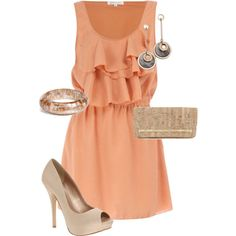 Peach and gold. Loving the colors!! Beauty!