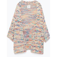 Zara Multicolor Yarn Cardigan (25 SGD) ❤ liked on Polyvore featuring tops, cardigans, outerwear, jackets, sweaters, various, colorful cardigans, multi colored cardigan, multi color cardigan и zara cardigan