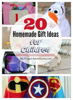 20 Awesome ideas for homemade gifts for children- perfect for Christmas or birthdays!