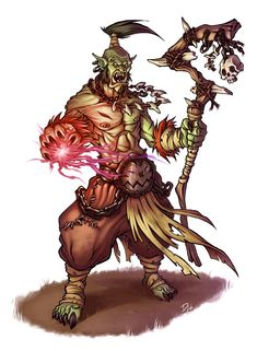 Orc shaman by ~TheDjib on deviantART