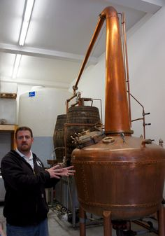 A classic whisky still with a thump keg.