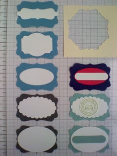 Stamping Joy: Ten different label ideas with the Decorative label punch.